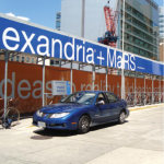 Alexandra + Mars Construction Signage and Hoardings by Identify Yourself.ca