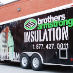 Brothers Armstrong Insulation Utility Trailer Wrap by Identify Yourself.ca